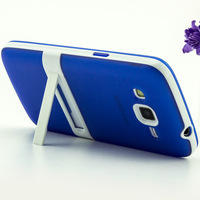 2 in1 Dual Color Hybrid Layer Hard soft TPU+pc Case with holder stand For Samsung Galaxy Express 2 G3815 Galaxy Win Pro G3812