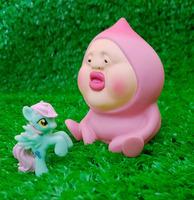 Kobito-dukan fairy peach piggy bank cute Figure