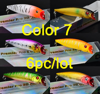 """2015 Top fishing bait 1color  Fishing Lures Design 5""""-12.7cm/17.77g-0.626oz fishing tackle 2# hook Retail box package"""