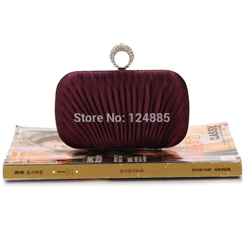 Hot Selling evening clutches Women's Satin Ring evening bag Handbag Wedding Bag Purse White Clutch Bags 50099(China (Mainland))