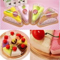 Free Shipping Creative Fashionable Durable Household Sandwich Shape Cake Ornament Towel Present   K5BO