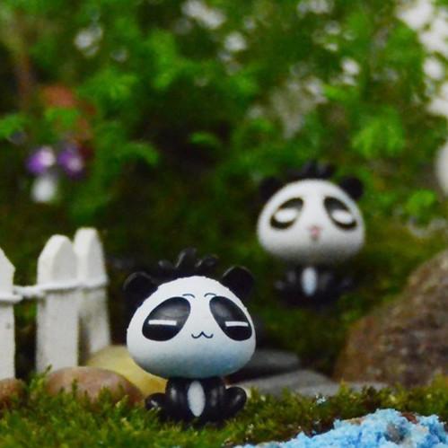 Cute Mini Panda ornament for microlandschaft, totoro for bonsai,Birthday gift for boyfriend girlfriend,Cute for kids baby(China (Mainland))