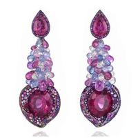 Derongems_Fine Jewelry_Luxury Flower Brand Tessel Party Earrings_S925 Solid Silver Luxury Woman Earrings_Factory Directly Sales