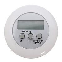 2 pcs/Lot  _ White Mini Magnetic Digital LCD Countdown Timer Alarm