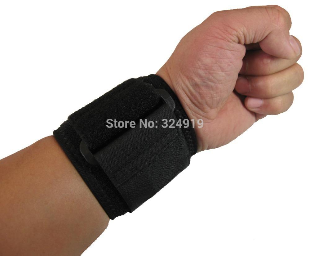 Free Shipping Neoprene Sports Adjustable Wrist Support Wraparound Hand Brace Strap Belt Exercise Comfortable Elbow Bandage Large(China (Mainland))