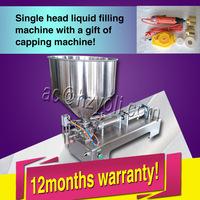 10ml-300ml single nozzle cream liquid chilly sauce shampoo lotion filling machine with capper