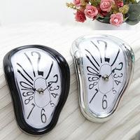 Free shipping Creative distorted clock Dali melting clock desktop wall clock art desk clock