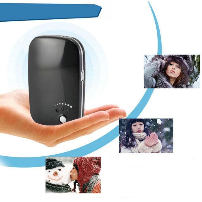 Гаджет  USB Pocket Portable Electric Hand Warmer Heater Rechargeable Led Light Charger  None Бытовая техника