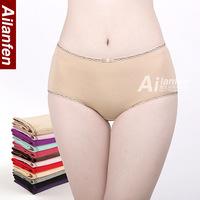 100% cotton panties women's mid waist plus size underwear high waist seamless modal sexy red briefs