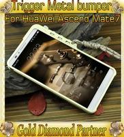 Trigger Metal Premium bumper for Huawei Ascend Mate7 P7 Honor6 aluminum bumper case for Huawei Ascend Mate7 P7 Honor6