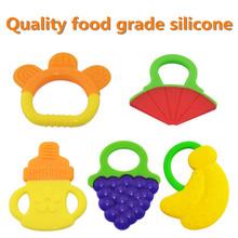 1 unids Hotsale Glister del cabrito del bebé infantil de seguridad dientes mordedores pegan trasero Molar de silicona, Great food silicona mordedores para bebés(China (Mainland))