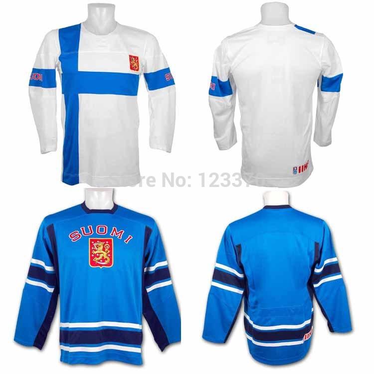 Custom 2014 team finland hockey sport jerseys teemu selanne jersey 8