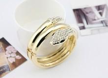 Hiphop Steampunk Personalized cristal snake wrap bracelets bangles korean luxury pulsera mujer pulseiras femininas brazalete