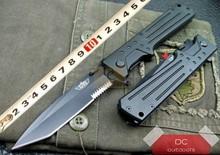Original Israeli saber UZI Uzi Desert Eagle tactical folding knife 440C Black Blade Aluminum handle with Nylon sheath(China (Mainland))