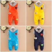4set/lot boys sets 2pcs 2015 spring kids sets cotton children suits wholesale factory 752