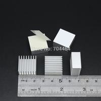 20mm x 20mm x 10mm Aluminium Adhesive Back Heatsink Cooler Fin For RAM GPU VGA Card IC LED Chipset Mainboard Cooling