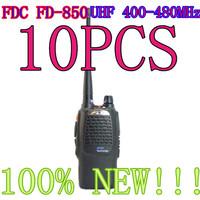 10pcs NEW Walkie Talkie UHF 5W 16CH FD 850A IPX6 CTCSS/DCS Two Way Radio Interphone Transceiver Black