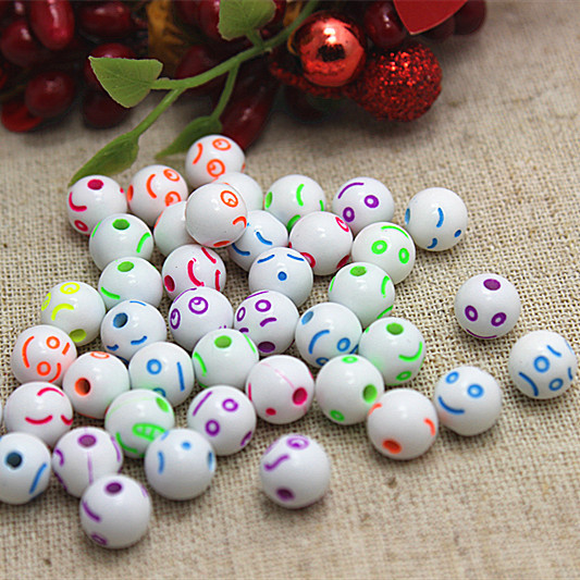 free shipping about 900pcs/lot 8mm Mix Emoticons fashion resin beads for DIY jewelry making(China (Mainland))