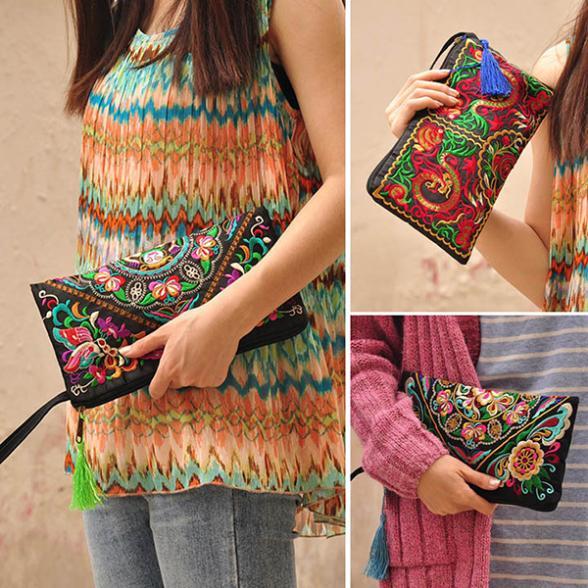 AliExpress.com Product - Factory Price! New Women Handbag Purse Elegant Handmade Day Clutches National Retro Embroidered Bag