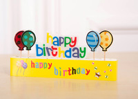 NEW HAPPY BIRTHDAY CAKE DECORATION CANDLES PARTY COLOURED BALLOONS FOR KIDS,FREE SHIPPING