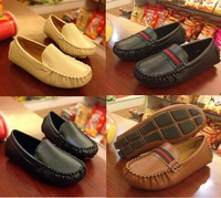 Check CM size before buy  2015 fashion 21~36 Children Shoes boys PU leather shoes girls moccasins loafers shoes child l sports