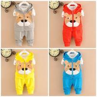 4set/lot baby sets cotton 2015 spring kid sets 3pcs vest+shirt +pants children clothing wholesale 762
