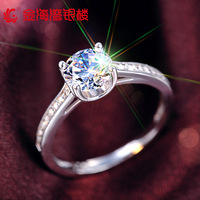 Good Quality 925 Sterling Silver Sparkling Simulated Diamond Ring