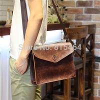 Fashion designer brand mens messenger bags PU Crazy Horse leather postman bag bolsas outdoors casual-bag vintage shoulder bags