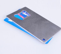 Free Shipping 10pcs/lot Polybag Packing Wallet Size Stainless Steel Credit Card Bottle Opener
