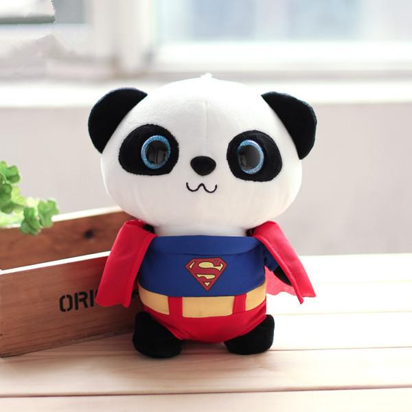 cute plush toy, plush panda toy, birthday gift for kids, present for children for girlfriend, spiderman panda, Superman, batman(China (Mainland))