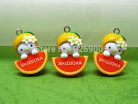 10 pieces Orange Hello Kitty Charm Pendant Cute Fashion Gifts ALK452 Wholesale
