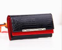new women purses genuine leather purse for women fashion brand design luxury crocodile patent leather diamonds clutch purses