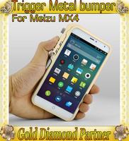 Trigger Metal Premium bumper for MEIZU MX4 aluminum bumper case for  MEIZU MX4 Free Shipping