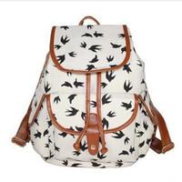 ANGEL ! 2015 new Printed canvas shoulder Backpack College School backpack Flowers Women Rucksack hiking backpack FF723