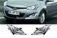 Car Daytime Running Lights LED DRL Daylight for Hyundai I20 2012 2013 (Pack of 2)