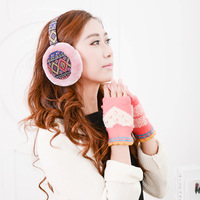 Korean cute ear bag lady Bohemia earmuffs earmuffs cartoon Plush large female winter warm ear cover