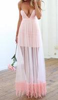 casual dress 2015 vestidos women dress explosion models pink sexy mesh dress Bra heart-shaped fashion women summer dress