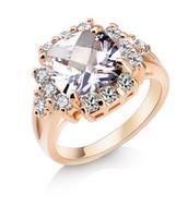 OMH wholesale green, bule euramerican new fashion  inlay zircon top grade ring for women JZ170