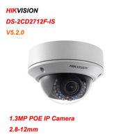 Hikvision DS-2CD2712F-IS 1.3MP IP Camera 2.8-12mm Vari-focal V5.2.0 Dome Cam
