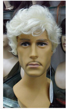 Middle-aged and old wig gray old man wig wig, film and television men's white hair old man performance