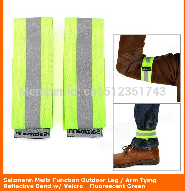 Salzmann Multi-Function Outdoor Leg / Arm Tying Reflective Band w/ Velcro - Fluorescent Green(China (Mainland))