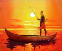 Handmade modern wall art picture abstract oil painting Decorative Painting seascape painting on canvas free shipping