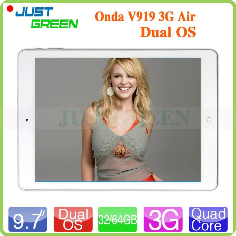 Onda V919 3G Air Dual OS Tablet PC in Stock 9 7 inch Retina Intel Z3736F