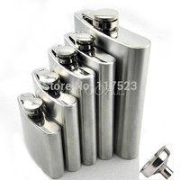 4 5 6 8 10 18 oz Stainless Steel Whisky Liquor Alcohol Pocket Hip Flask +Funnel