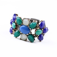 peacock dot bracelet blue free shipping stella high fashion rustic retro woman bijou gift B261GR