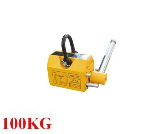 100 KG Steel Magnetic Lifter Heavy Duty Crane Hoist Lifting Magnet 220lb(China (Mainland))