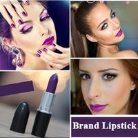Free Ship MAKEUP Moisture Lipstick 3g Matte Color Lip Stick Sexy Purple brand lipstick cosmetic