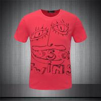 2015 Summer New Men's Fashion Brand TWINS Design Graffiti Casual T-Shirt Tops Tees Short-sleeved Quality Cotton T-shirt DS1520