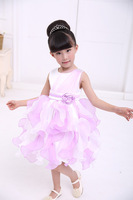The new baby's dress. Children's banquet dress, purple girl style evening dress, free shipping