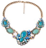 Fashion Necklaces Wholesale Shourouk Chain Chunky Choker Statement Necklace & Pendant Fashion Fower Necklace Women
